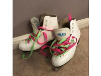 White Figure Ice Skates Size 2 - 34 Euro