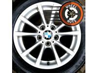 "16"" BMW 3 ser alloys Renault Trafic Vauxhall Vivaro perfect cond excel premium tyres."
