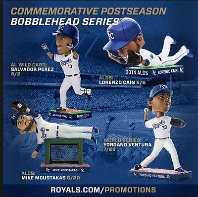 Yordano Ventura Kansas City Royals World Series Bobblehead NIB SGA 7/25/2015