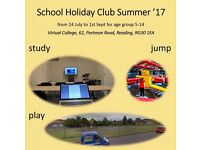 School Holiday Club - with study hours and trampoline park playtime
