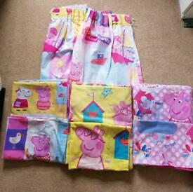 Peppa pig curtains and toddler duvet sets