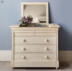 Chest of drawers with mirror from And So To Bed. Louis XV solid wood.