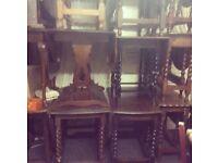 Solid oak vintage dropleaf dining table