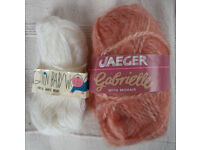 2 NEW vintage balls knitting yarn: Penguin baby wool; Jaeger Gabrielle. £1.50 for both