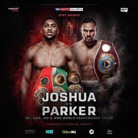 2 Tickets Anthony Joshua V Parker, VIP Ringside, full corporate package