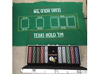 Poker set with 500 chips