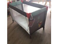 Baby travel cot, Disney, like new - with tags, used