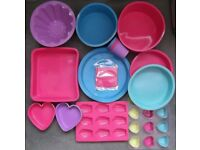 Lot of Silicone Bakeware and Cake Moulds UNUSED baking, kitchen, cookware, biscuits