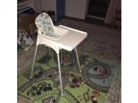 Antilop Ikea high chair + two covers