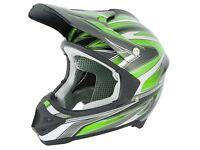 New Stealth HD203 Edge Motocross Helmet Green
