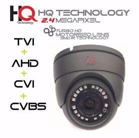 Motorised Zoom SMD LED CCTV CAMERA Hybrid 2.4 Mega Pixel 2.8-8mm 1080 HD AHD TVI