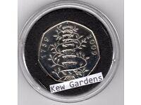 2009 Kew Gardens 50p Uncirculated