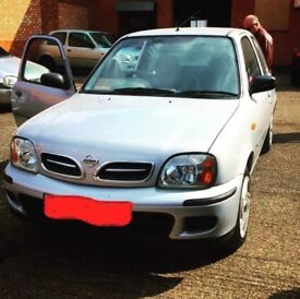 2002 Nissan Micra, 3 door, 1L, Low mileage.