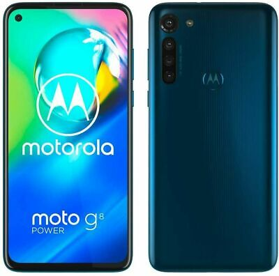 New Moto G8 Power Capri Blue 4G LTE Dual SIM 4GB RAM 64GB Android Smartphone