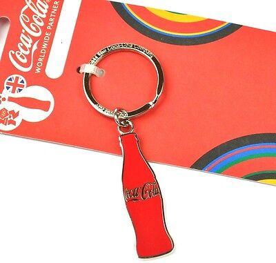 Coca-Cola Coke England Schlüsselanhänger - rote Flasche