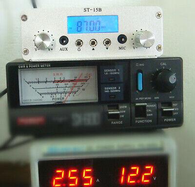 1.5W/15W stereo PLL FM transmitter broadcast station 87-108MHZ  BNC interface