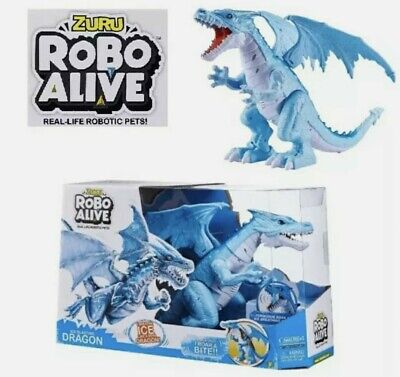 Robo Alive Roaring Ice Dragon Battery Powered Robotic Toy by Zuru walking action