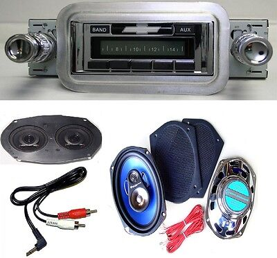 1958 Impala Bel Air Radio + Stereo Dash Replacement Speaker + 6x9's *630