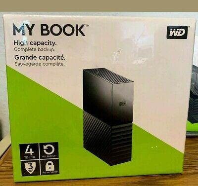 🔥 WD 4TB My Book External Hard Drive, USB 3.0 - WDBBGB0040HBK-NESN | NEW