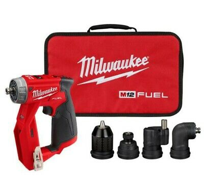 New Milwaukee M12 Fuel Installation Drilldriver 4-in-1 Attachments Bag 2505-20