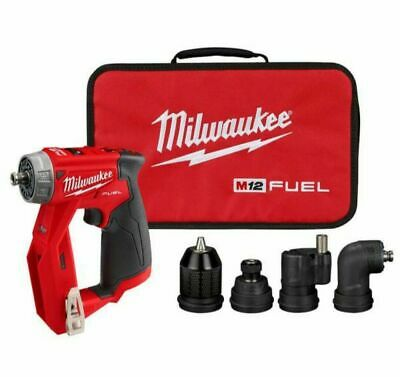 New Milwaukee M12 Fuel 12v Installation Drill Driver W4 Heads Bag 2505-20