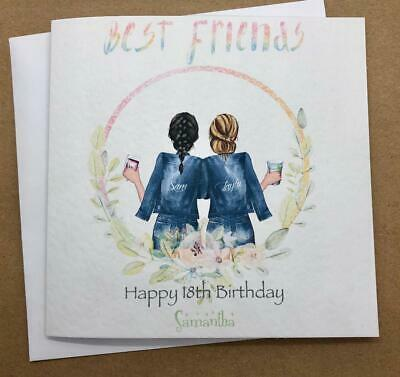 Handmade Birthday Card for Best Friend/ Sister/ cousin etc 25th 30th 35th