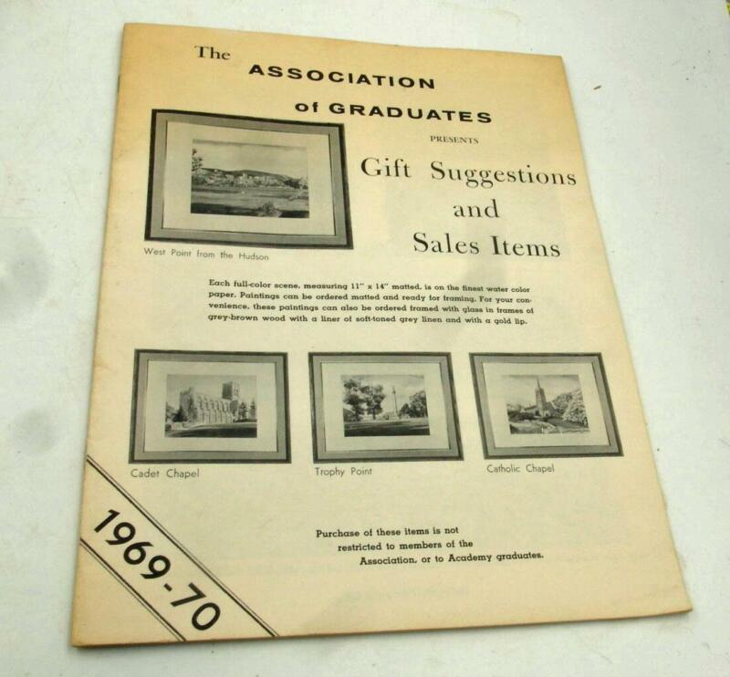 1969-70 WEST POINT GIFT SUGGESTIONS & SALES ITEMS CATALOG SCARCE