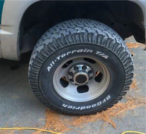 """16.5"""" Rims and Tires (8 x 6.5"""" bolt pattern)"""