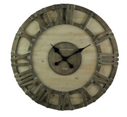 Modern Rustic Barnwood Oversize Framed Wall Clock 30 Inch
