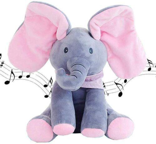 Animated Talking Singing Elephant Plush Stuffed Child Toy Gift