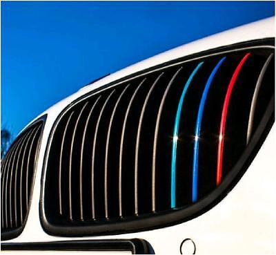 BMW Grill Stripe Vinyl Decals / Stickers 1,2,3,4,5,6 and 7 series 2x Sets / Car