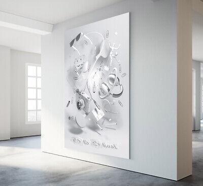 LEINWAND BILD XXL 3D ABSTRAKT DEKO WANDBILDER KUNSTDRUCK MODERN BILDER OLD SHOOL ()
