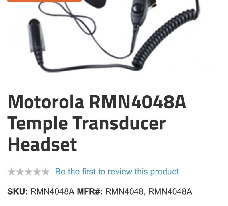 Temple Transducer headset NEW