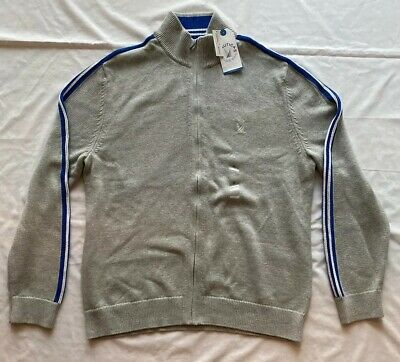 Nautica Blue Sail Mens Full Zip Knit Jacket-Sz. XL