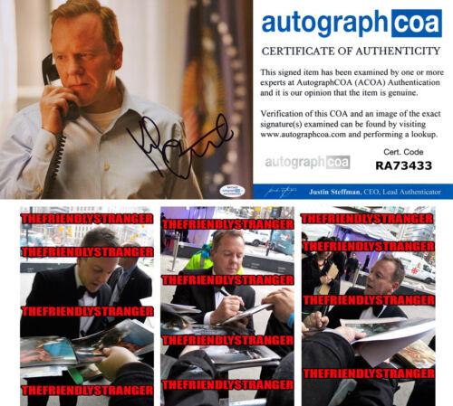 "KIEFER SUTHERLAND signed ""DESIGNATED SURVIVOR"" 8X10 PHOTO - PROOF - ACOA COA"