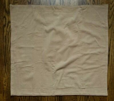 Vintage Ralph Lauren Sham Euro Pillow Sham Wool Camel Tan Color