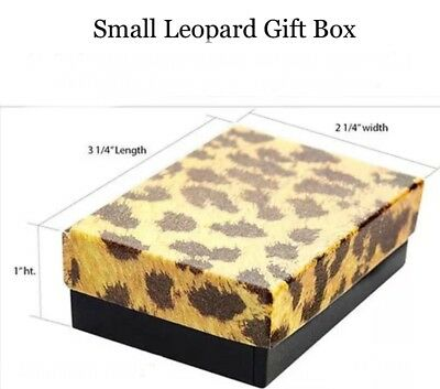 50 Leopard Print Cotton Fill Jewelry Packaging Gift Boxes 3 14 X 2 14 X 1