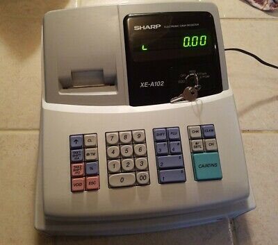 Sharp Xe-a102 Electronic Cash Register W Keys Excellent Condition Tested Works