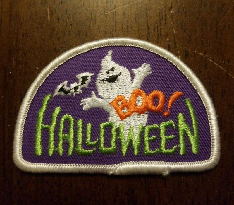 Old bsa cub scout patch, Halloween boo ghost bat