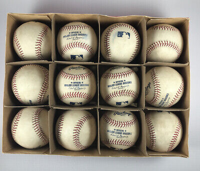 (12) One Dozen Official Game Rubbed Major League Baseballs