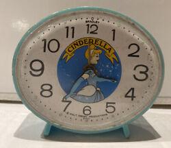 Cinderella Vintage Alarm Clock Disney Productions by Bradley Japan