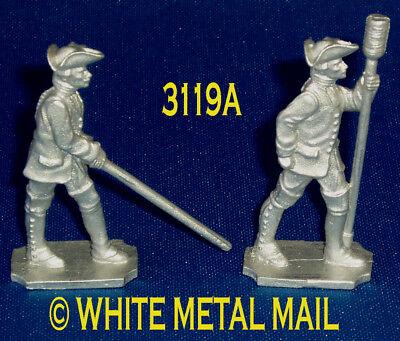 AUSTRIAN 40mm Casting Set 3119A 7 Years War Artillery Aligner and Crewman Ramrod