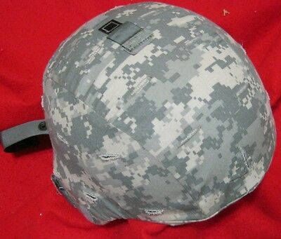 US ARMY MICH ACH ADVANCED COMBAT HELMET ACU & NEW PADS & CHIN STRAP EXTRA LARGE