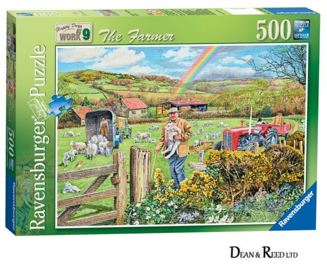 RAVENSBURGER NEW JIGSAW PUZZLE - NOSTALGIA - THE FARMER - 500 PIECES -14360