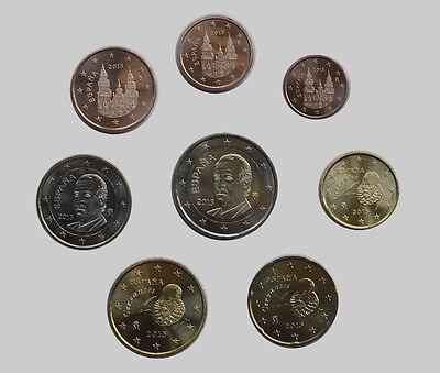 Spain 2013 - Set of 8 Euro Coins (UNC)