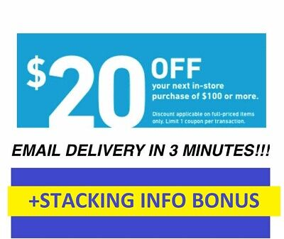 Expire 4/9 ONE (1X) $20 OFF $100 LOWES 1Coupons -INSTORE +BONUS Stacking info