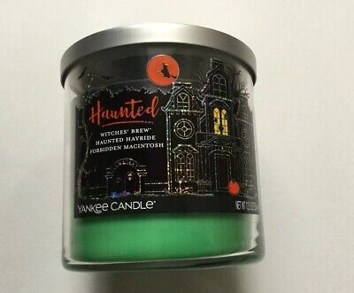 Yankee Candle HAUNTED TRIO WITCHES BREW HAUNTED HAYRIDE FORBIDDEN MACINTOSH 12.5