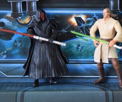 STAR WARS FIGURE 1999 PHANTOM MENACE COLLECTION QUI GON JINN DARTH MAUL LOT
