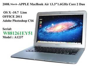 2008.Febr -APPLE MacBook Air 13.3-1.6GHz Core 2 Duo W8812W45Y51 Colyton Penrith Area Preview