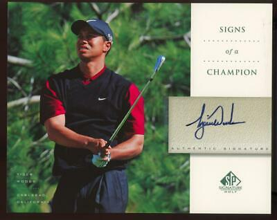 2004 Upper Deck SP Signature Signs Of A Champion Tiger Woods Auto Autograph
